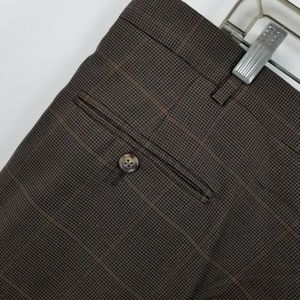 Jos. A. Bank Pants - Jos a Bank Brown Houndstooth Pleated Suit Pants